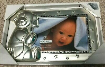 Malden Baby Boy Puppy Silver color Picture Frame