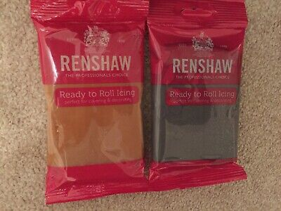 renshaw ready to roll icing Teddy Brown And Grey 250g Each X 2