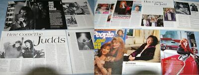 THE JUDDS Wynonna Naomi 33x Clippings Covers 1985-to-2000s