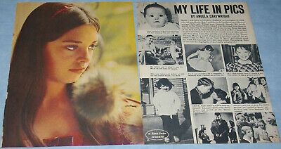ANGELA CARTRIGHT 2x pages Article/Pinup Fave magazine 1968
