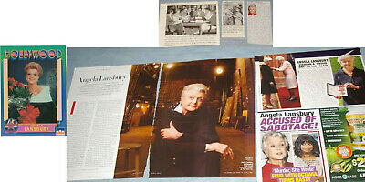ANGELA LANSBURY 38x Clippings 1952-recent + Trading Card (1991)