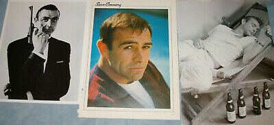 SEAN CONNERY 113x Clippings 1967-recent + 8x10 b/w Photo