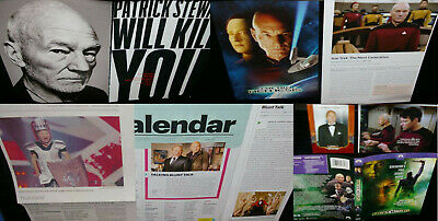 PATRICK STEWART 75x Clippings/Postcard/PromoCards/Pogs