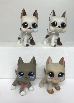 LPS Littlest Pet Shop Dog Lot of 4 Great Dane Dogs Authentic Hasbro