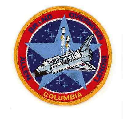 Vintage Embroidered Patch - NASA Space Shuttle - STS 5 Columbia Mission Logo
