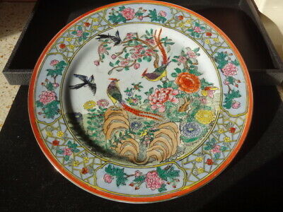 Vintage Nora Fenton Hand Painted Decorative Plate Made in Macau