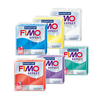 Fimo Effect TRANSLUCENT 57g Polymer Clay Full 6 Colour Range Modelling Craft Kit