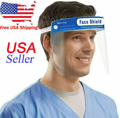 5 Pack Safety Full Face Shield Clear Protector Work Industry Dental Anti-Fog