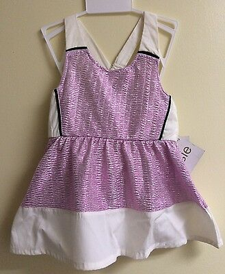 2-Pc Kensie Baby Girl Size 12M French Terry Tulle Dress Blushing Pink Gold Heart
