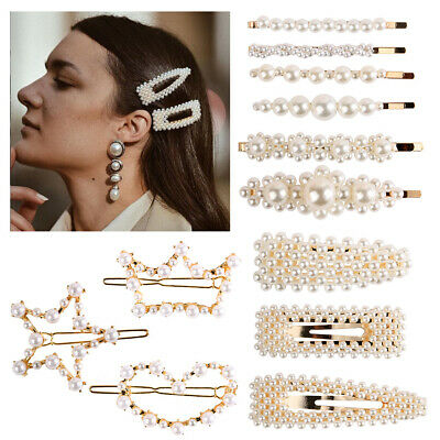 New Women/'s Pearl Hair Clip Hairband Comb Bobby Pin Barrette Hairpin Headdress