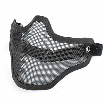 Foldable Halt Mask Airsoft Paintball Tactical Metal Mesh Black Model Protective