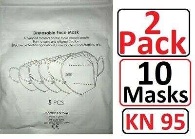 KN95 Disposable Protective Face Mask 5-LAYERS CE/ECM Certified Safety  (10 Mask)