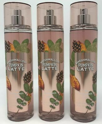 Bath and Body Works Marshmallow Pumpkin Latte Mist x3 (Ships Same Day!)