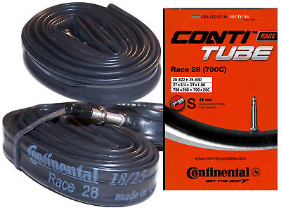 """2x Conti Schlauch Race 28/"""" 18//25-622//630 SV 60mm TOP UPE 17 EUR"""