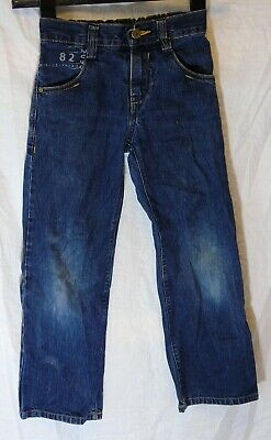 Boys Next Dark Blue Whiskered Denim Vintage Look Relaxed Fit Jeans Age 7 Years