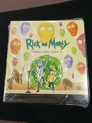 Rick & Morty Season 2 Trading Cards Official Binder Sealed B1 Fake Relic