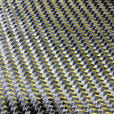 Metallic Carbon fiber & Gold&Silver reflection mixed Carbon cloth 50*100cm
