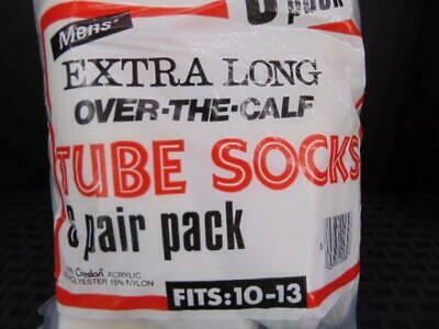 K Mart Vintage Mens Extra Long Tube Socks Over the Calf New 6 Pair Pack Acrylic