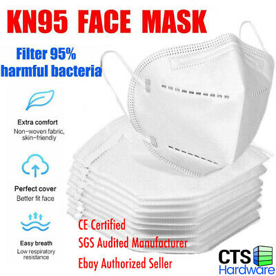1/10/40/100 Pcs KN95 5-Layer CE Certified Face Mask FFP2 BFE > 95% Respirator,