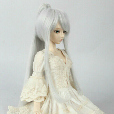 1//3 1//4 BJD Wig Archaic Style Medium-length Hair with Tail BJD Doll Wig Goddess