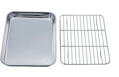 New Steel Non-Stick Rectangular Slice Tray Baking Oven Tray Roasting Cooking ZW.