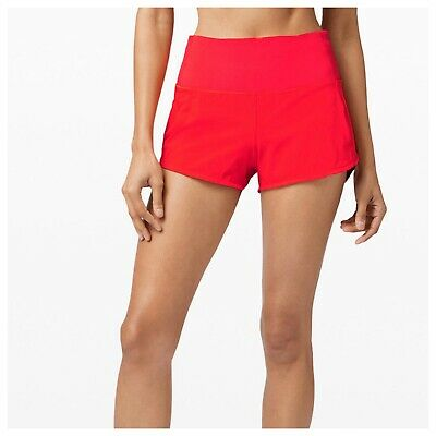 Lululemon Speed Up Hr Short 2 5 Carnation Red Size 8 Nwt 84 95 Picclick