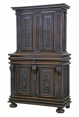 Mid-19Th Century Profusely Carved French Walnut Cabinet