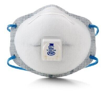 1 Box of 10 Each 3M 8577 P95 Particulate Respirator (See listing and pictures)