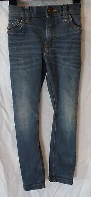 Boys Next Grey Whiskered Denim Adjustable Waist Skinny Fit Jeans Age 4 Years