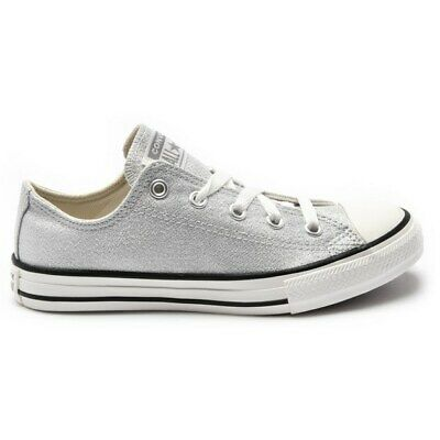 New Infants Converse White Ctas Big Eyelets Ox Leather Trainers Plimsolls Lace