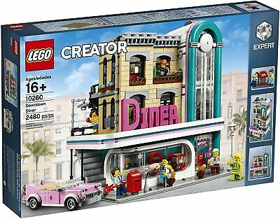 New LEGO Creator Expert Downtown Diner 10260 Building Kit 2480 Pieces