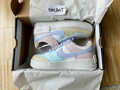 NIKE AIR FORCE 1 Shadow EU 38 US 7 Pastel Pale Ivory
