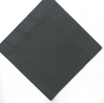 Black 3 ply Dinner napkins 40cm.  50 in pack Wedding, birthday, party