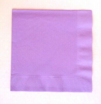 Lavender, lilac 3 ply Dinner napkins 40cm.  50 in pack Wedding, birthday, party