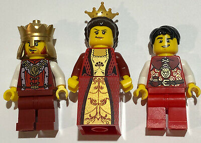 LEGO 3 NEW CASTLE MINIFIGURES FRIGHTENING KNIGHTS AND QUEEN FIGURES