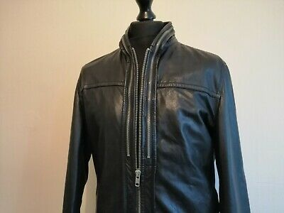 RARE* ALL SAINTS COLLIDE Leather Bomber Jacket Tom Cruise