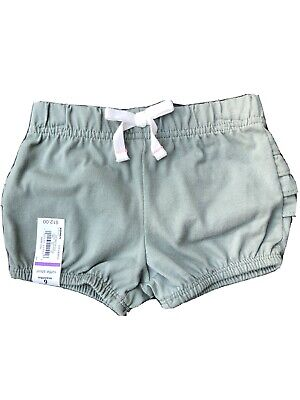 Girl/'s Size 6 Months Jumping Beans Gray Ruffle Bubble Shorts New Nwt #10003