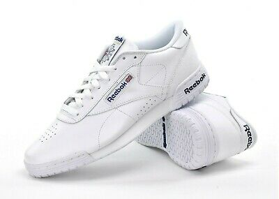 REEBOK EX O FIT LO Clean Logo Trainers in White exofit gym