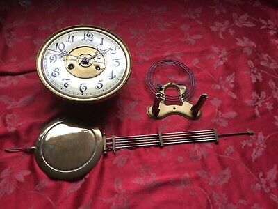 Large Complete Vienna Wall Clock Movement For Spares Or Repair Nice Dial Hands