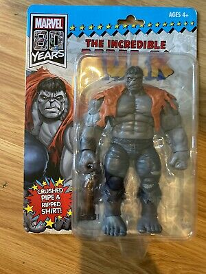 Marvel legends 80th anniversary Retro GREY SAVAGE HULK Excl Figure IN HAND