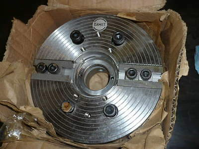 "NEW GAMET 2 JAW POWER CHUCK 6-1//4/"" DIA Lathe Power Chuck Two Jaw Wrench"