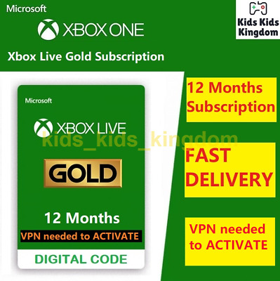 Xbox Live Gold 12 Month Membership Code - Xbox One 360 BRAZIL VPN Required