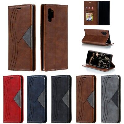 PU Leather Flip Wallet Card Cover Case For Samsung Galaxy Note 8 9 10 Pro Plus