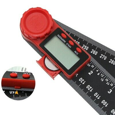 """2 In 1 200mm 8"""" Protractor Ruler Electronic LCD Digital Angle Finder Goniom xfz"""
