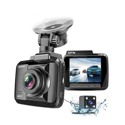 Car Camera Dual Lens GPS WiFi 1080P Front Rear Recorder Night Vision Dash Cam