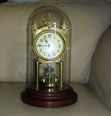 Antique Gustav Becker Brass Torsion Clock with Glass Dome. For Repair. Wirral