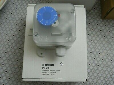 HK Instruments Differential Air Pressure Switch DIFF20Pa PS200 IP54 PG 9 50kPa