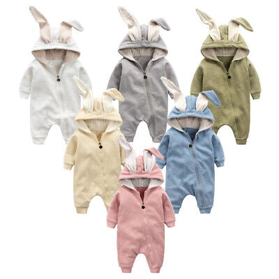 Newborn Baby Boy Girl Animal Ear Outfit Costume Romper Ches HOT SALE