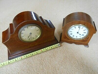 Vintage Mahogany Mantle Clock 8 Day Movement with Platform Escapement & another