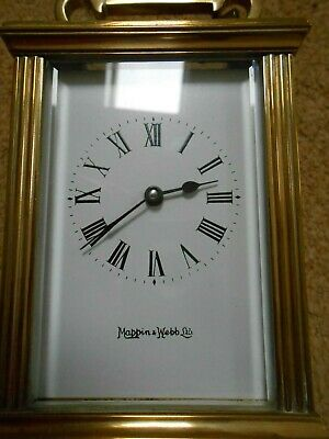 Carriage Clock retailed by Mappin & Webb. Nice used condition running strong+key